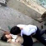 盗撮動画 堤防の陰でエッチしてるJKカップルを隠し撮り XVIDEOS