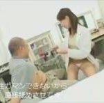 美人女医が患者を言葉責めしながら手コキ&フェラチオ erovideo