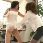 キャットファイト!?女部長と女社長が喧嘩で服破って裸に FC2動画