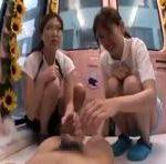 【MM号】マジックミラー号で素人女子体育大生にチンポを手コキさせてみました erovideo